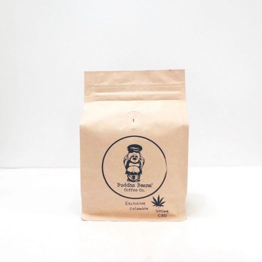 Buddha Beans Hemp Infused Coffee Beans - Colombia