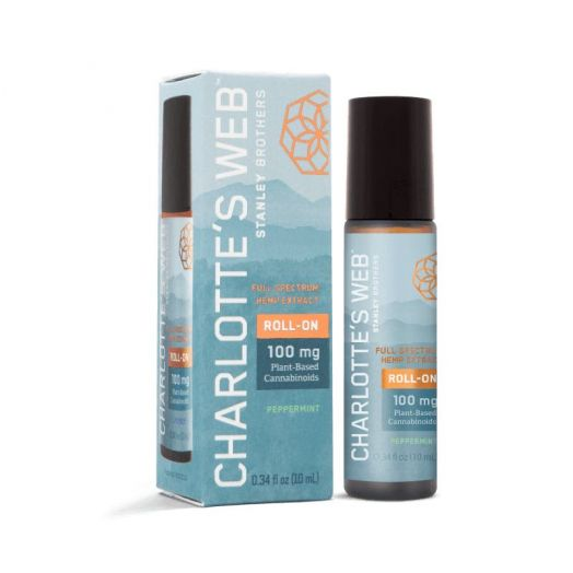 Charlotte's Web Hemp-Infused Essential Oil Roll-On - Peppermint - 100mg