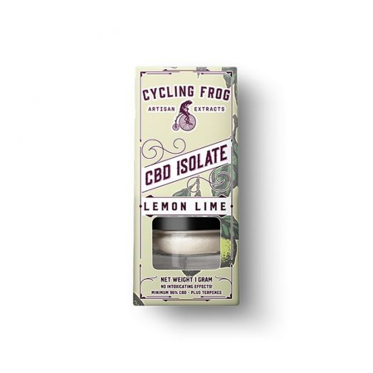 Lazarus Naturals Cycling Frog CBD Isolate - Terpene Infused - Lemon Lime