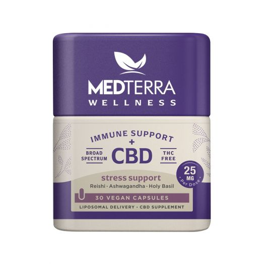 Medterra Wellness CBD Capsules - Stress Support - 750mg [30 Count • 25mg]