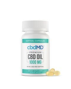 cbbdMD CBD Softgel Capsules - 1000mg - 30 Softgels