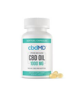 cbbdMD CBD Softgel Capsules - 1000mg - 60 Softgels