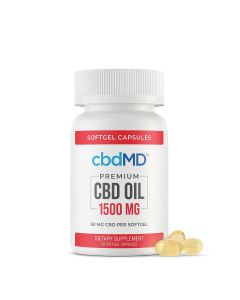 cbbdMD CBD Softgel Capsules - 1500mg - 30 Softgels