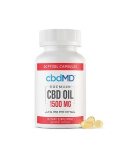 cbbdMD CBD Softgel Capsules - 1500mg - 60 Softgels