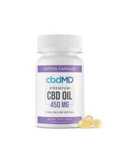 cbbdMD CBD Softgel Capsules - 450mg - 30 Softgels