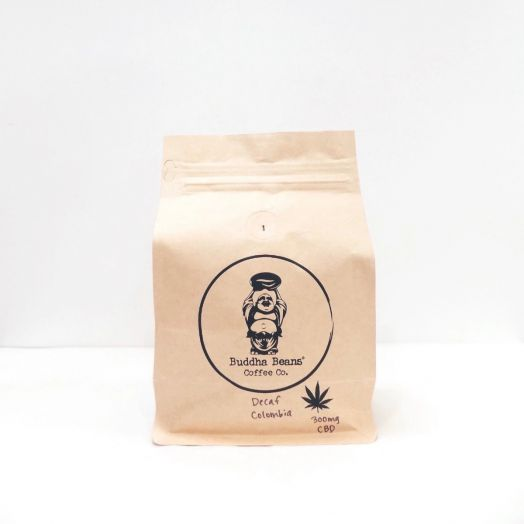 Buddha Beans Hemp Infused Coffee Beans - Colombia Decaf