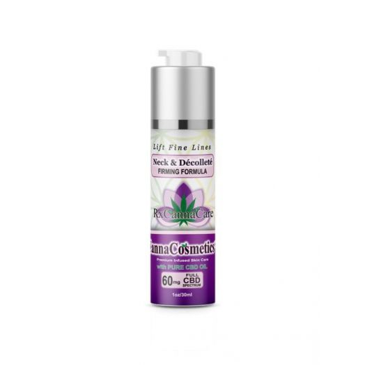 Canna Cosmetics Full Spectrum CBD Neck & Décolleté Cream Firming Formula With GreenTea Anti-Oxidants - 60mg