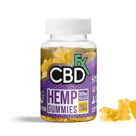 CBDfx Broad Spectrum CBD Gummies with Melatonin - Juicy Lemon Small Product Picture