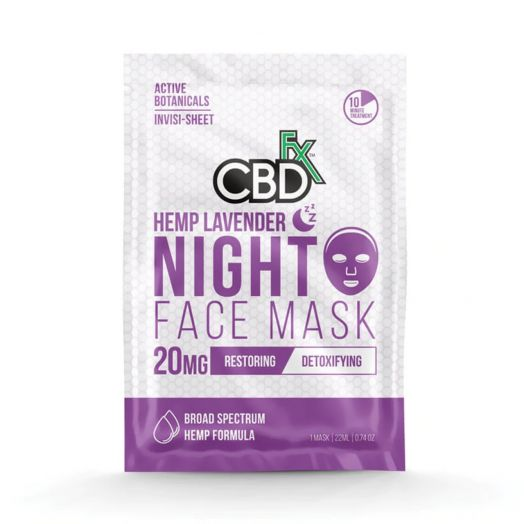 CBDfx Broad Spectrum CBD Mask - Lavender Night Small Product Picture