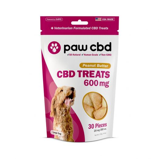cbdMD - Paw CBD - CBD Treats for Dogs - Peanut Butter