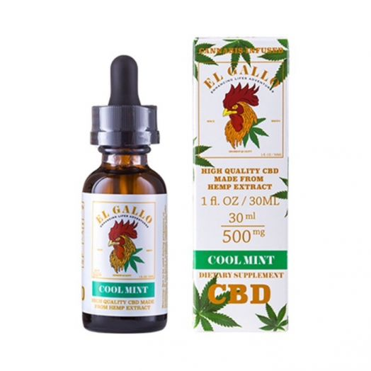 El Gallo CBD Isolate Tincture - Cool Mint - 500mg Small Product Picture