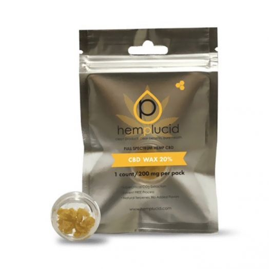 Hemplucid Full Spectrum Whole Plant Wax CBD Concentrate - 200mg Small Product Picture