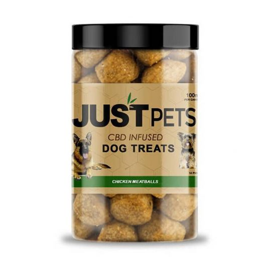 JustCBD CBD Dog Treats - Chicken Meatballs Small Product Picture