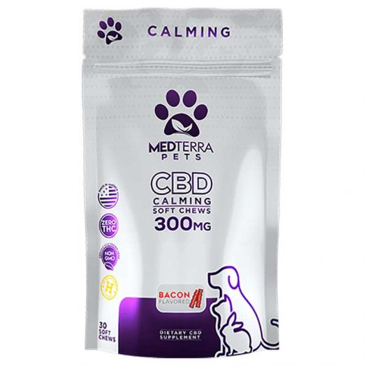 Medterra CBD Pet Treats For Calming - Bacon Flavored