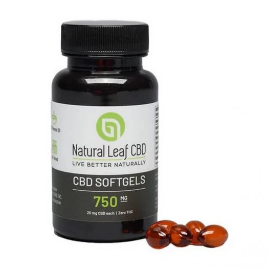 Natural Leaf CBD Broad Spectrum CBD Soft Gel Capsules - 750mg Small Product Picture