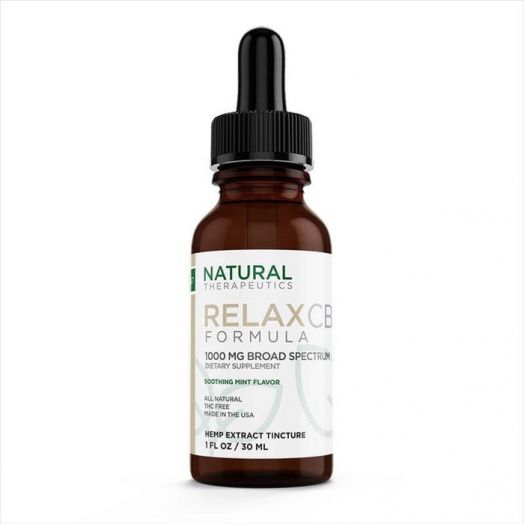 Natural Therapeutics Broad Spectrum CBD Tincture - Relax - 1000mg Product Picture