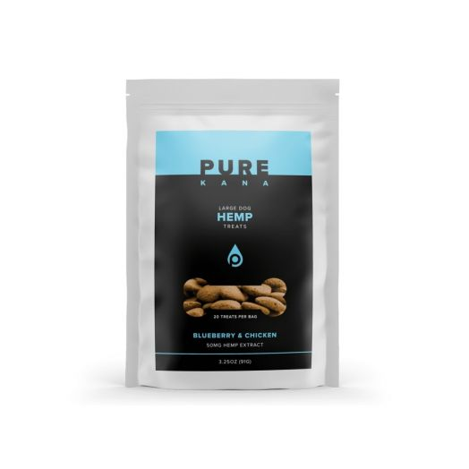 Pure Kana Hemp Dog Treats - Blueberry & Chicken