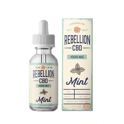 Rebellion CBD Broad Spectrum CBD Tincture - Mint - 1000mg Small Product Picture
