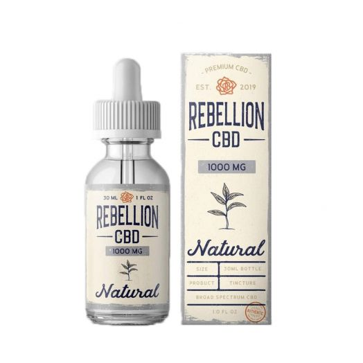 Rebellion CBD Broad Spectrum CBD Tincture - Natural Flavor Small Product Picture