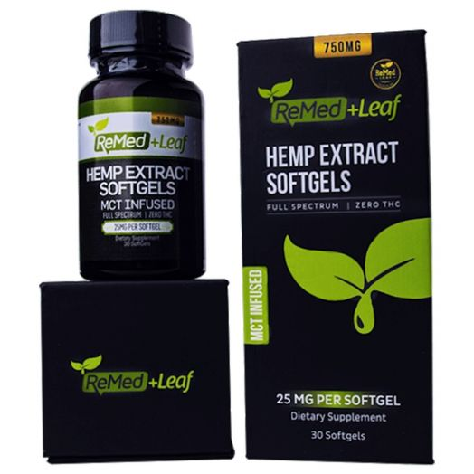 ReMed Leaf Full Spectrum CBD Capsules Small Product Picture