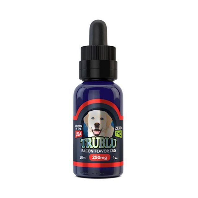 Blue Moon Hemp CBD Pet Tincture For Dog - Tru Blu Bacon - 250mg Small Product Picture