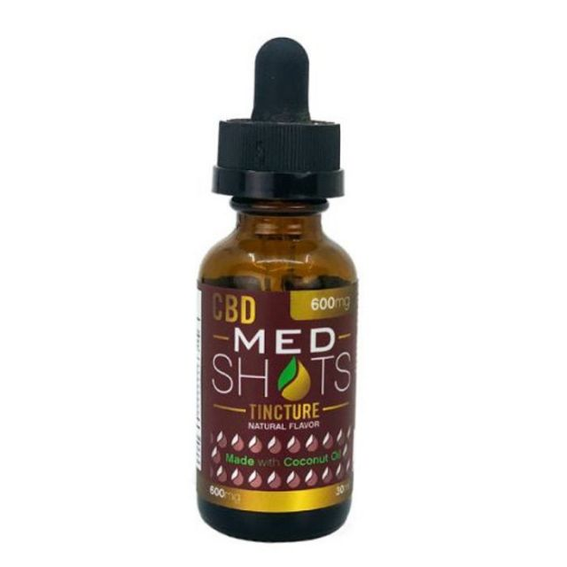 CBD Fusion MedShots Coconut Oil Full Spectrum CBD Tincture - Natural