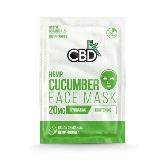 CBDfx Broad Spectrum CBD Mask - Cucumber Small Product Picture