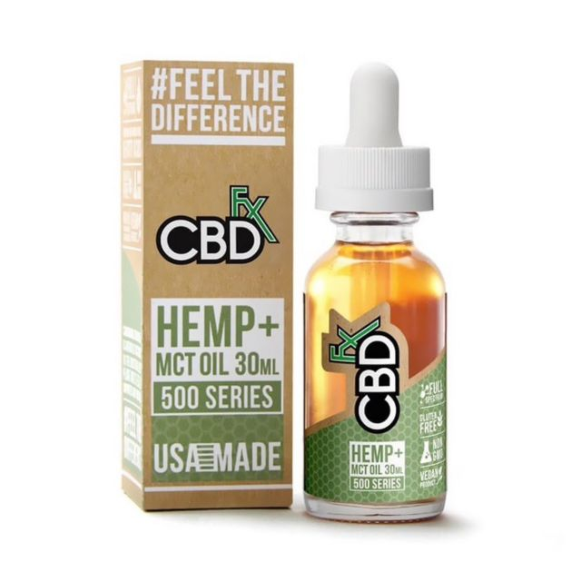 CBDfx Full Spectrum CBD Tincture - MCT Oil - 500mg Small Product Picture