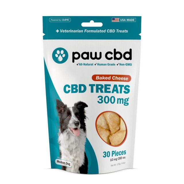 cbdMD - Paw CBD - CBD Treats for Dogs - Baked Cheese