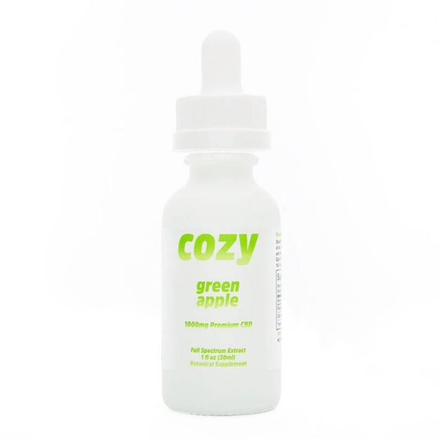Cozy Full Spectrum CBD Tincture - Green Apple - 1000mg Small Product Picture