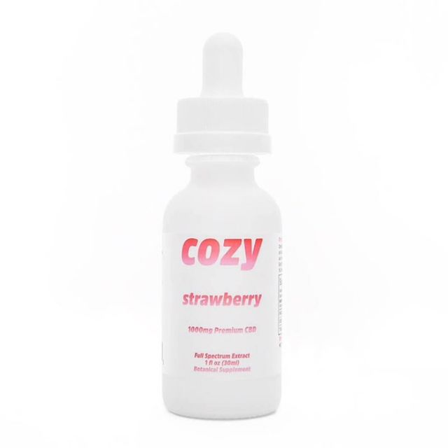 Cozy Full Spectrum CBD Tincture - Strawberry - 1000mg Small Product Picture