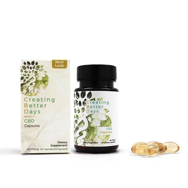Creating Better Days Broad Spectrum CBD Capsules Small Product Picture