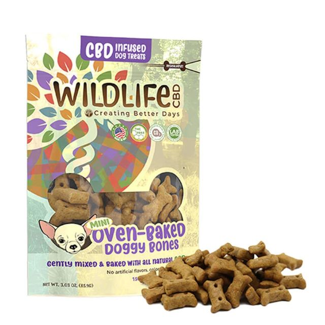 Creating Better Days CBD Dog Treats - Mini Oven-Baked Doggy Bones Small Product Picture