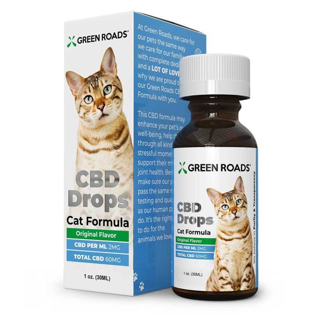 Green Roads Pet CBD Drops for Cat - Original Flavor