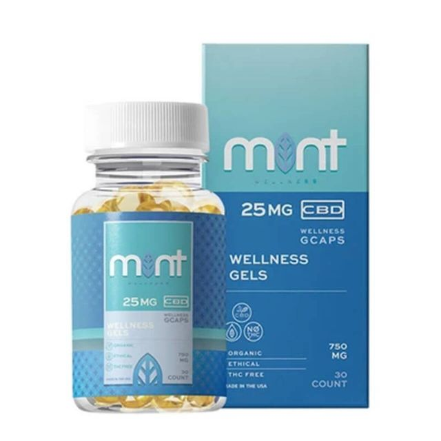Mint Wellness Broad Spectrum CBD Capsules - Wellness Small Product Picture