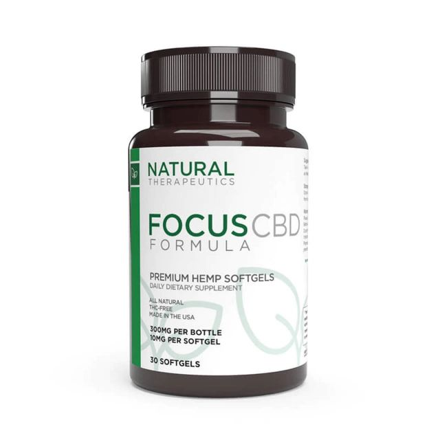 Natural Therapeutics Broad Spectrum CBD Capsules - Focus Small Product Picture