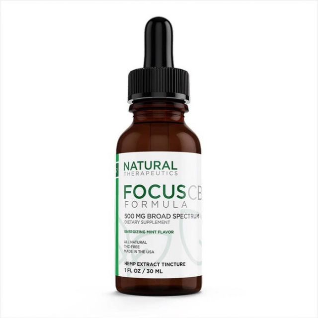 Natural Therapeutics Broad Spectrum CBD Tincture - Focus - 500mg Product Picture