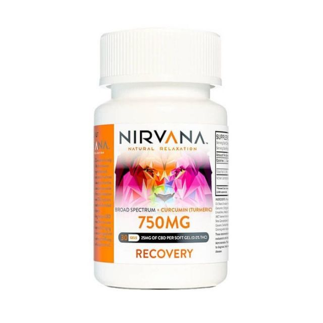 Nirvana Broad Spectrum CBD Soft Gel Capsules - Recovery - 750mg Small Product Picture