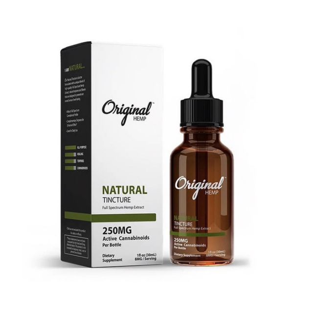 Original Hemp Full Spectrum CBD Tincture - Natural Small Product Picture